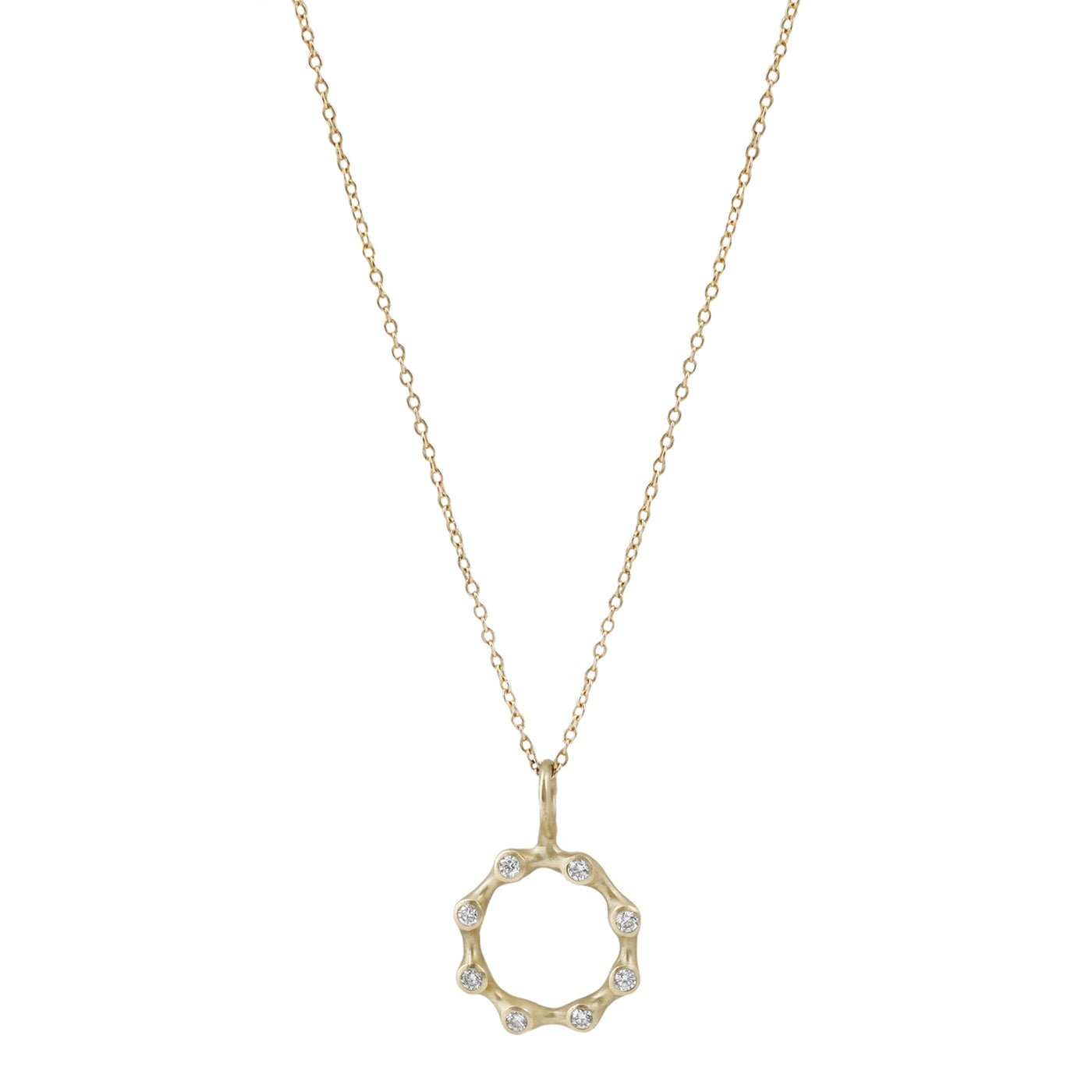 Johnny Ninos Circle Diamond Reef Pendant