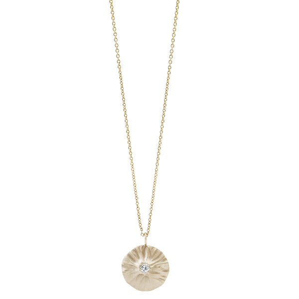 Rebecca Overmann Barnacle Diamond Necklace in Yellow Gold