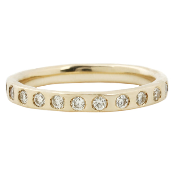 Canary Diamond Eternity Band