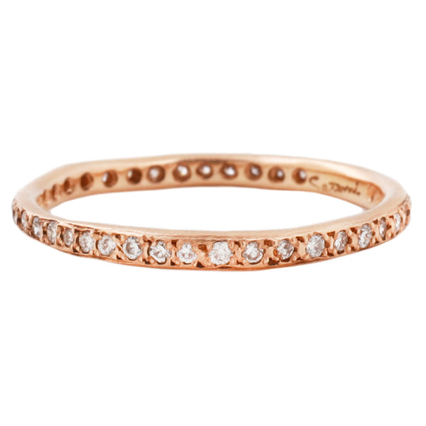 Satomi Kawakita White Diamond Eternity Band in Rose Gold