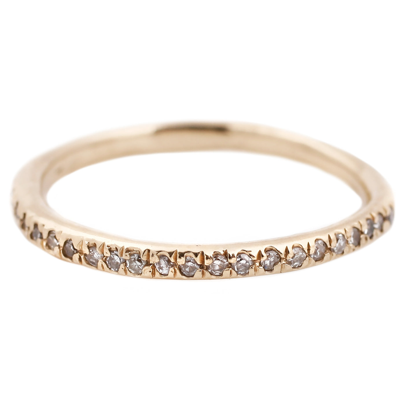 Lauren Wolf Yellow Gold White Diamond Eternity Band