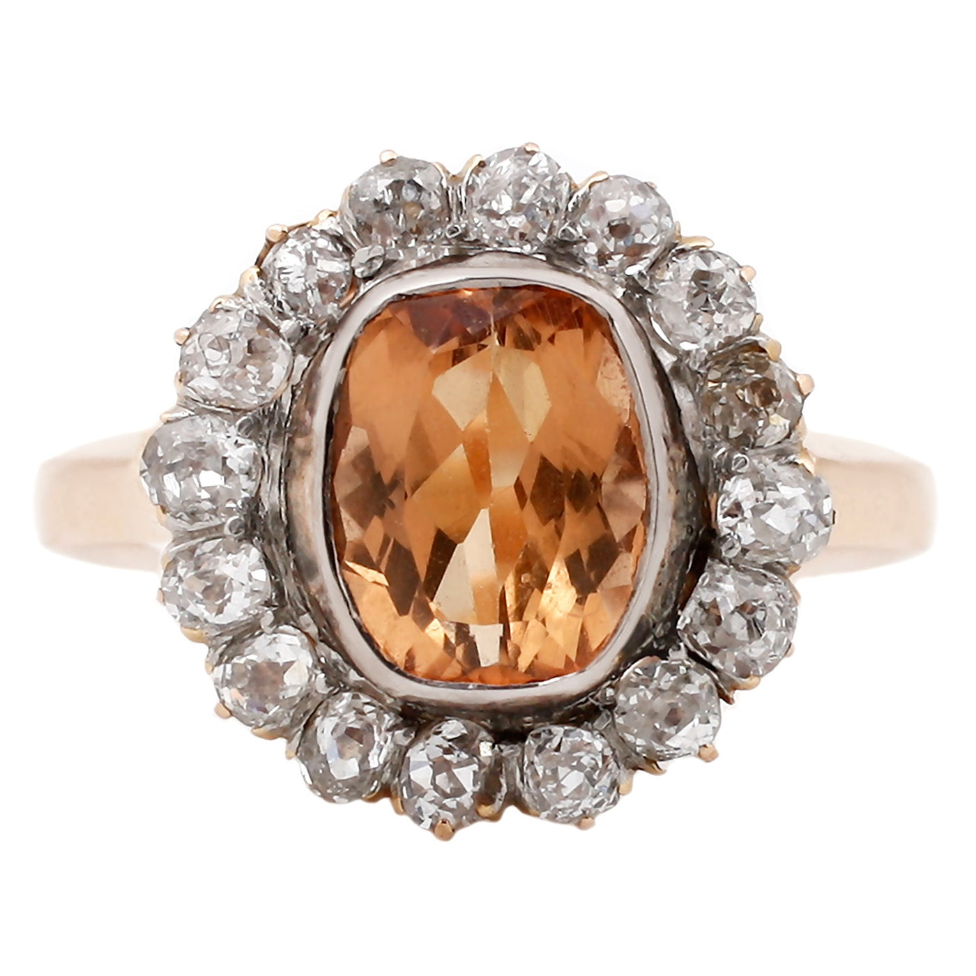 Vintage Topaz Halo Ring