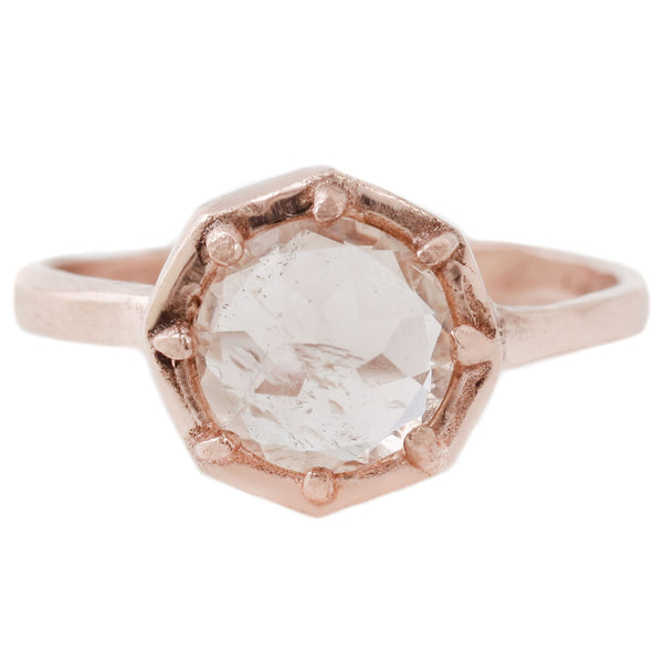 Morganite Octagon Ring