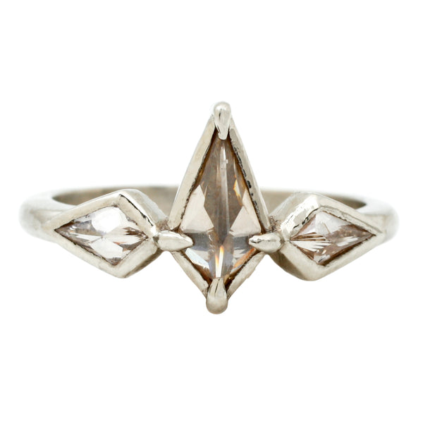 Three Diamond Kite Ring