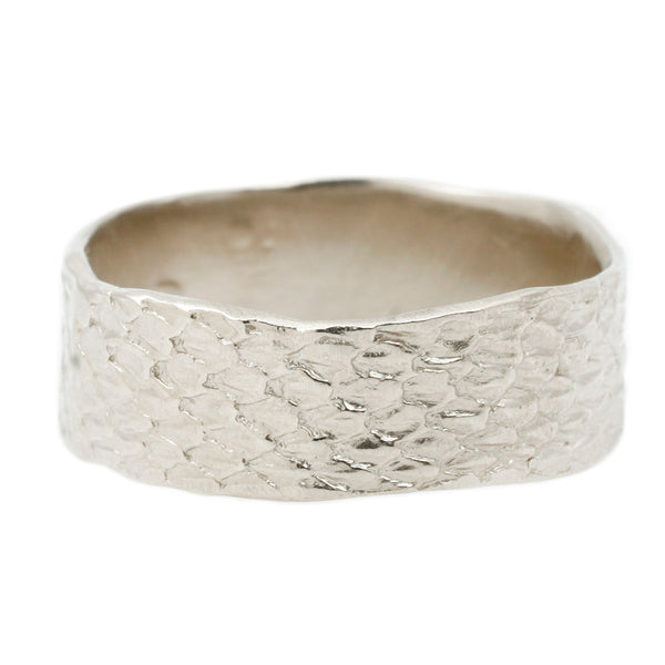 White Double Snakeskin Band