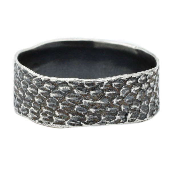 Silver Double Snakeskin Band