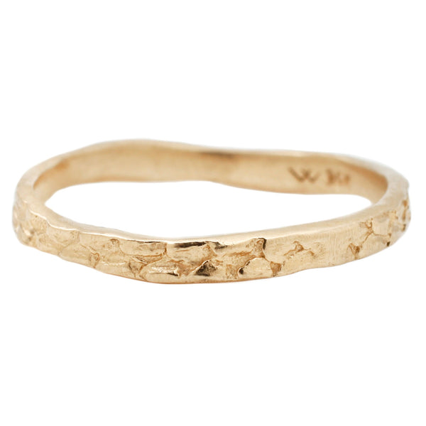 Gold Snakeskin Stacking Ring