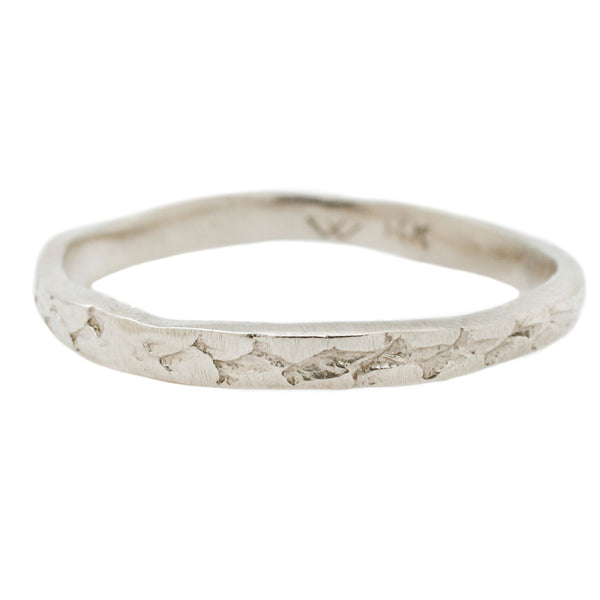 White Gold Snakeskin Band