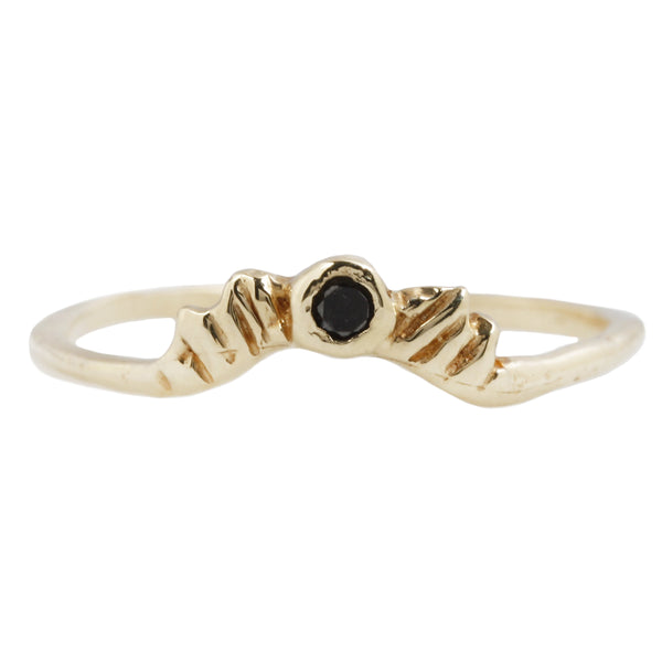 COMMUNION BY JOY BLACK DIAMOND RADIANCE RING