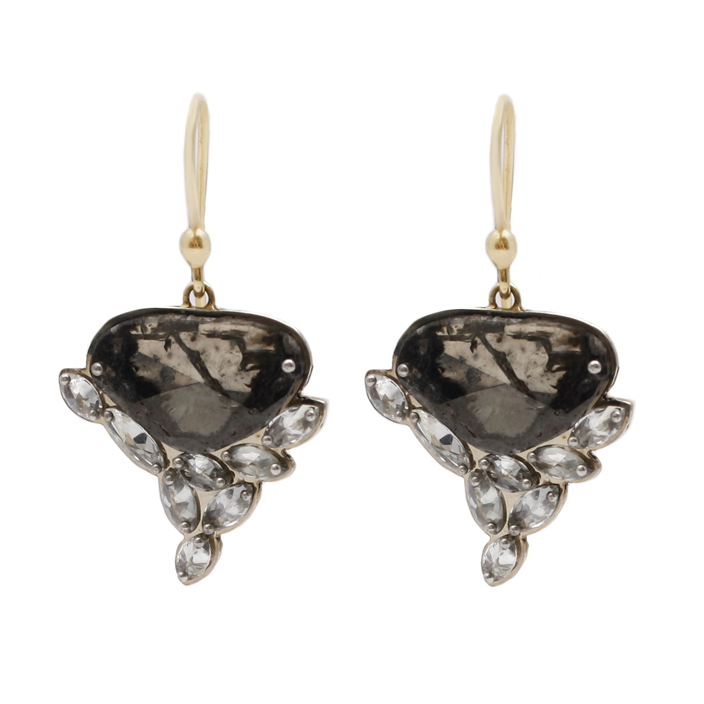 TAP by Todd Pownell Diamond Slice Dangle Earrings