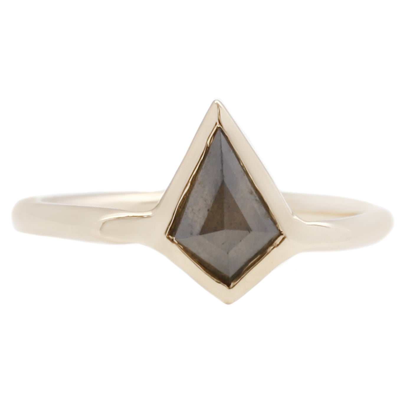 Adeline Gold Orion Ring with Gray Diamond