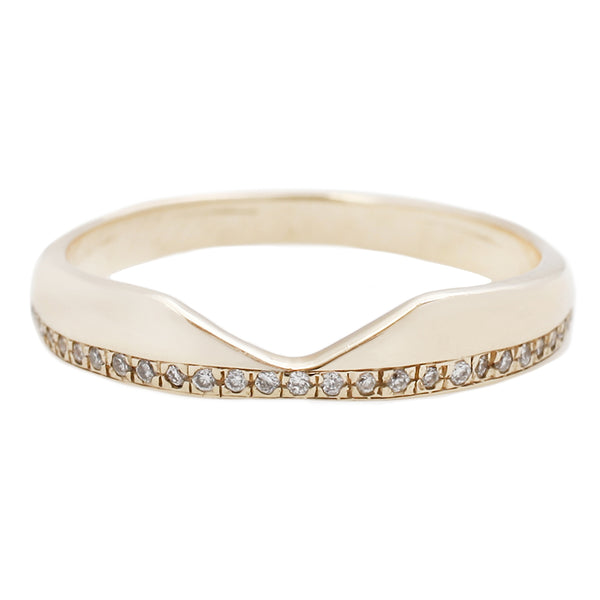 Adeline Gold Corona Eternity Band with Diamonds