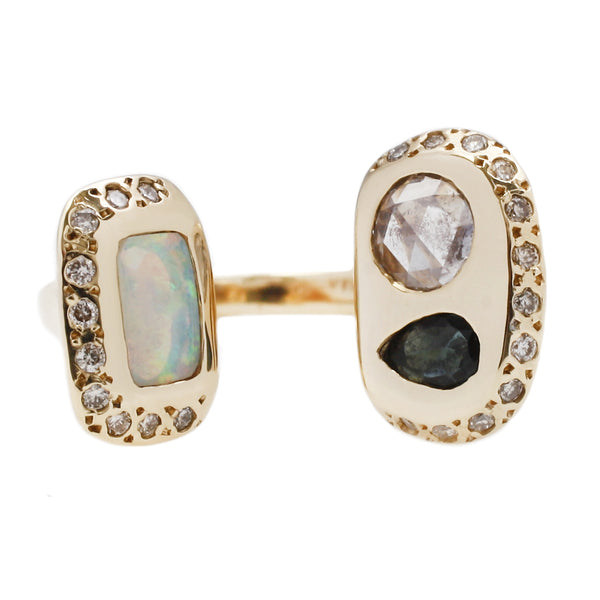 Scosha Three Stone Hug Ring