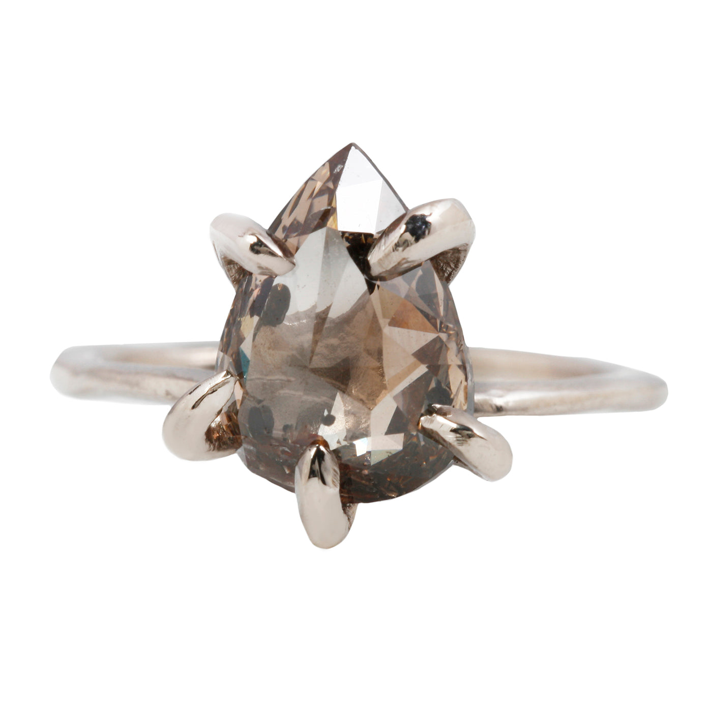 Champagne Contemporary Claw Ring