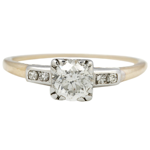 Vintage Two Toned Diamond Ring