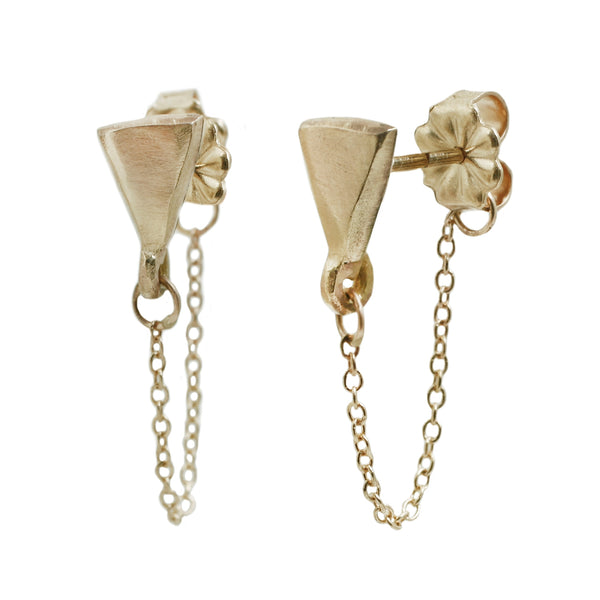 Michael Spirito Gold Triangle Ear Chains