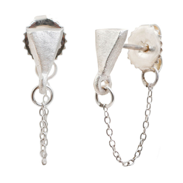 Lauren Wolf Silver Triangle Ear Chains