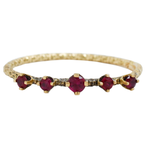 Homespun Ruby Ring