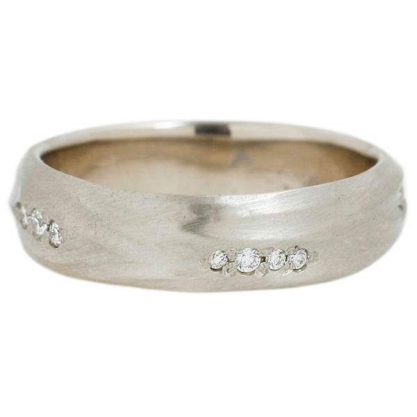 Rebecca Overmann Pavé Diamond Stream Band in White Gold