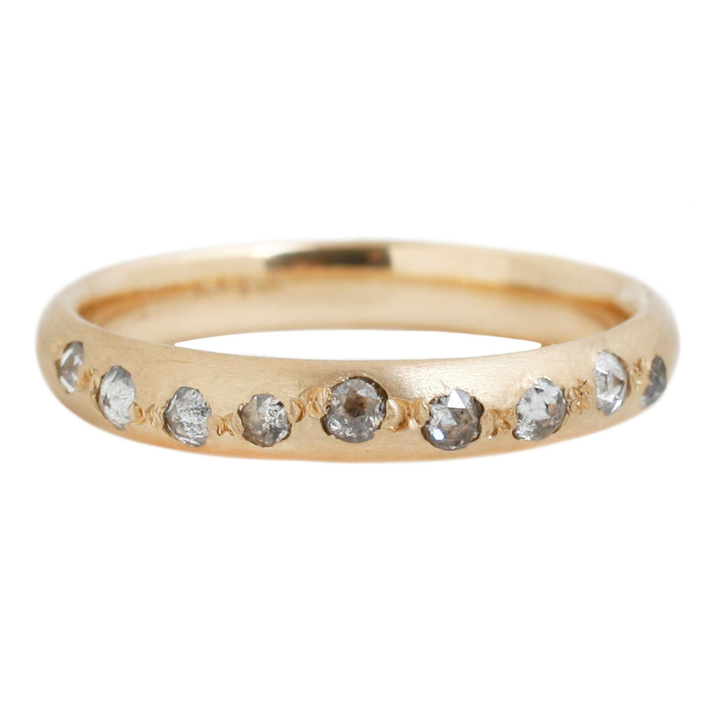 Rebecca Overmann Half Eternity Diamond Band in Yellow Gold