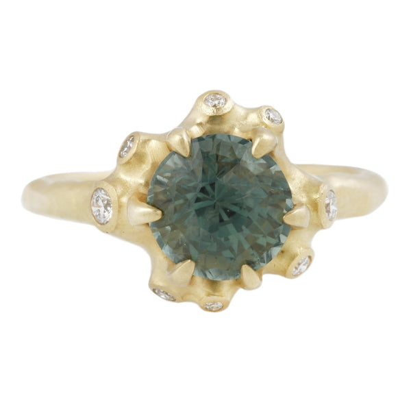 JOHNNY NINOS GREEN SAPPHIRE CLUSTER RING