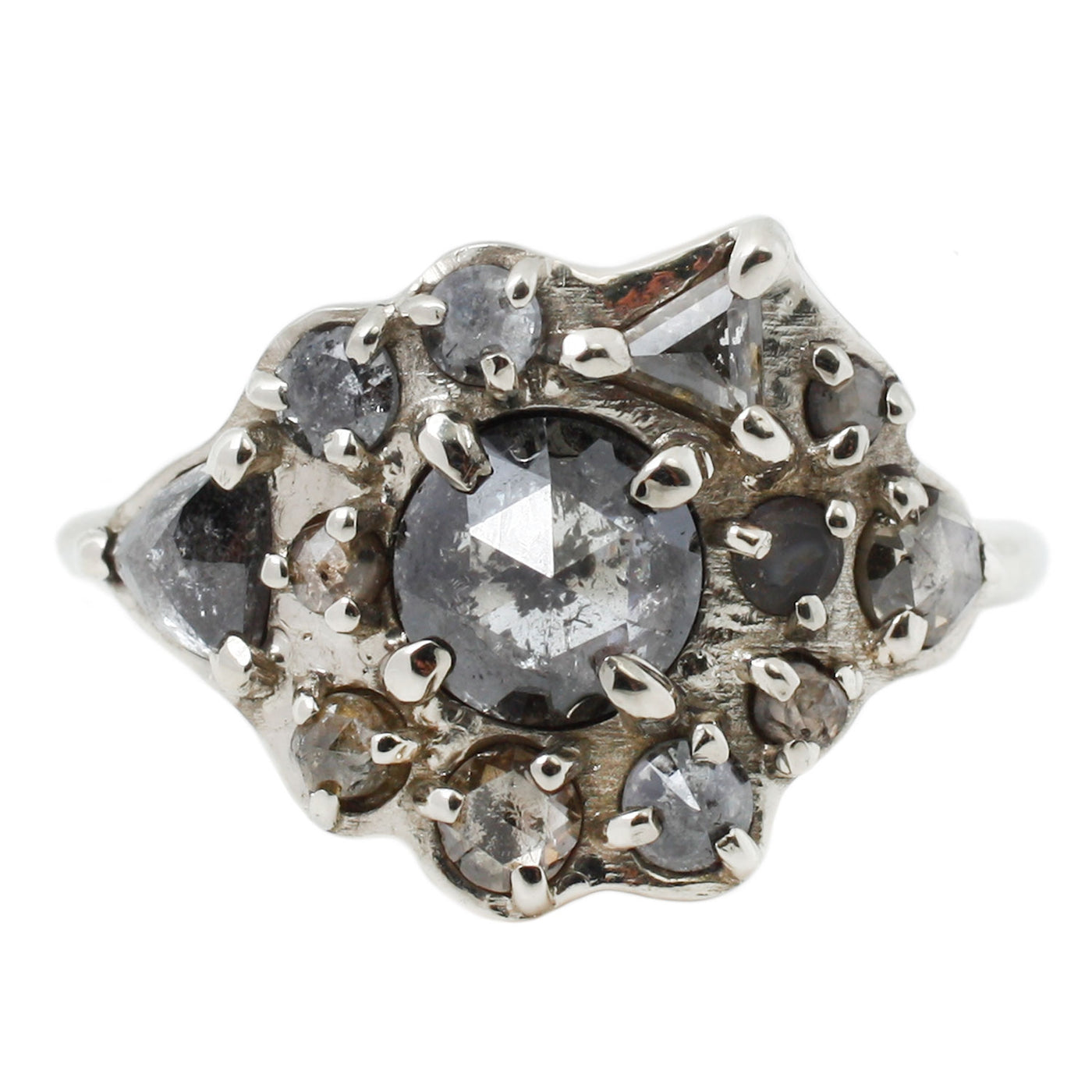 Lauren Wolf Jewelry Diamond Cluster Ring in White Gold