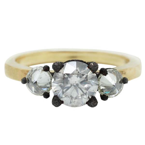 TAP by Todd Pownell Three Round White Diamond Ring