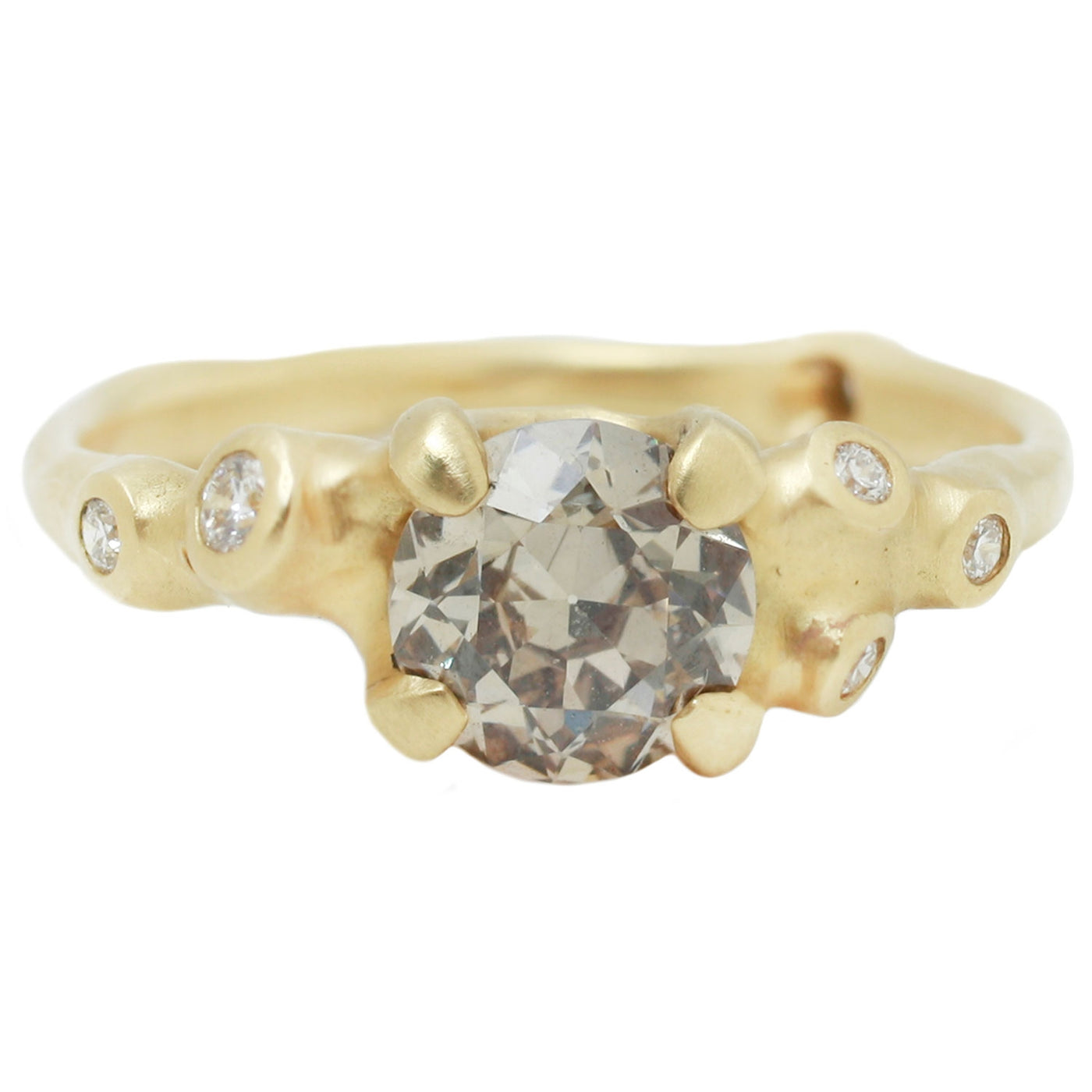 Johnny Ninos Fancy Brown Old European Diamond Cluster Ring