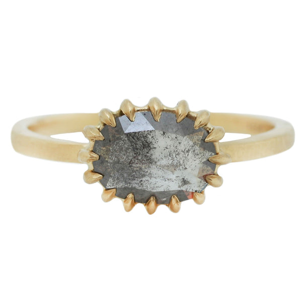 Sarah Swell gray diamond solitaire ring