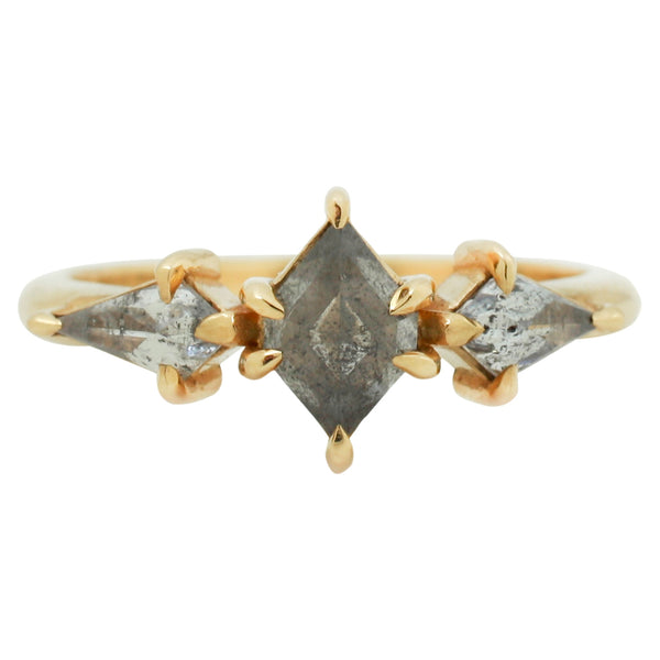 Lauren Wolf Valois Three Diamond Ring in Yellow Gold