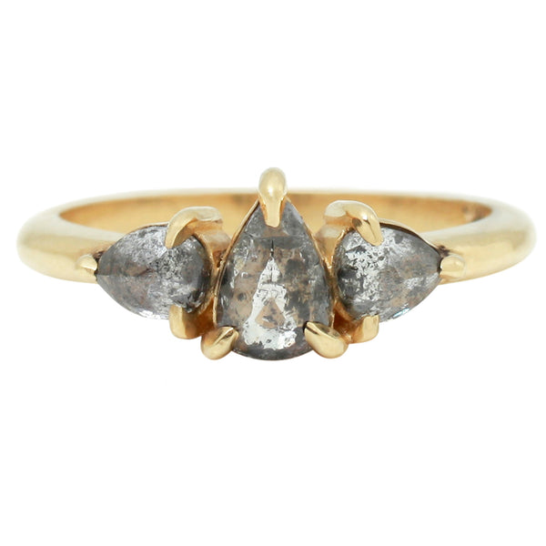 Three Pear Diamond Ring