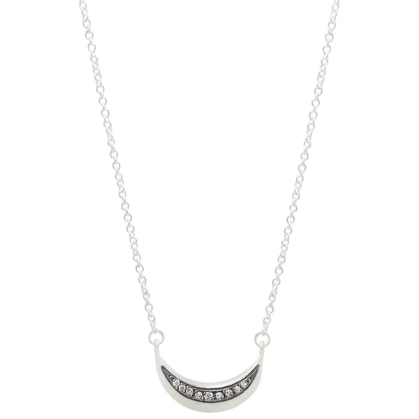 Sarah Swell Silver La Lune Diamond Necklace