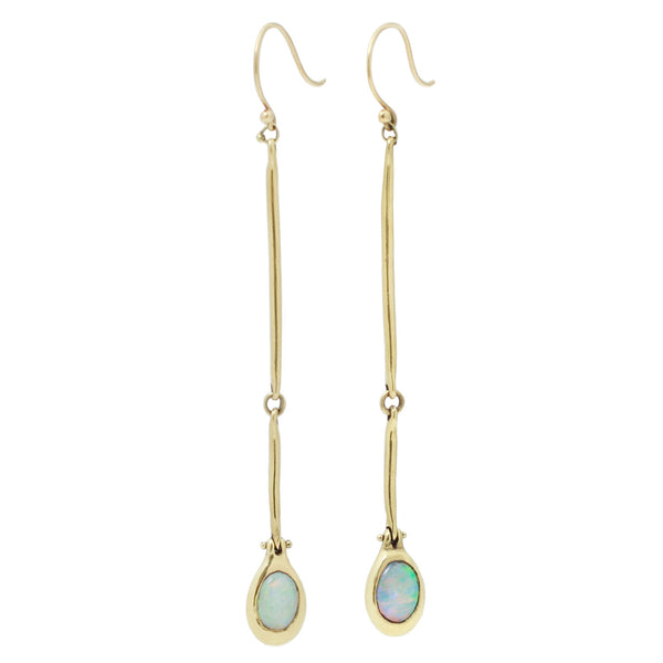 TenThousandThings Cast Line Gold and Opal Earrings