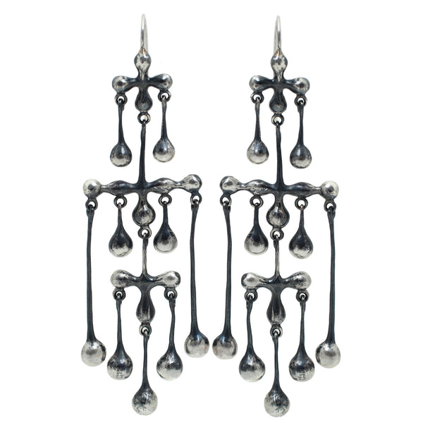 TenThousandThings Oxidized Silver Chandelier Earrings
