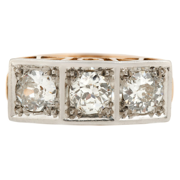 Square Set WOW Diamond Ring