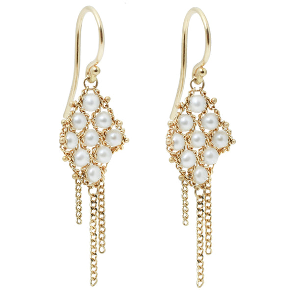 Pearl Textile Earrings