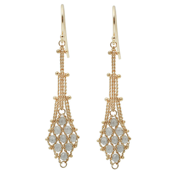 Amali Diamond Textile Drop Earrings
