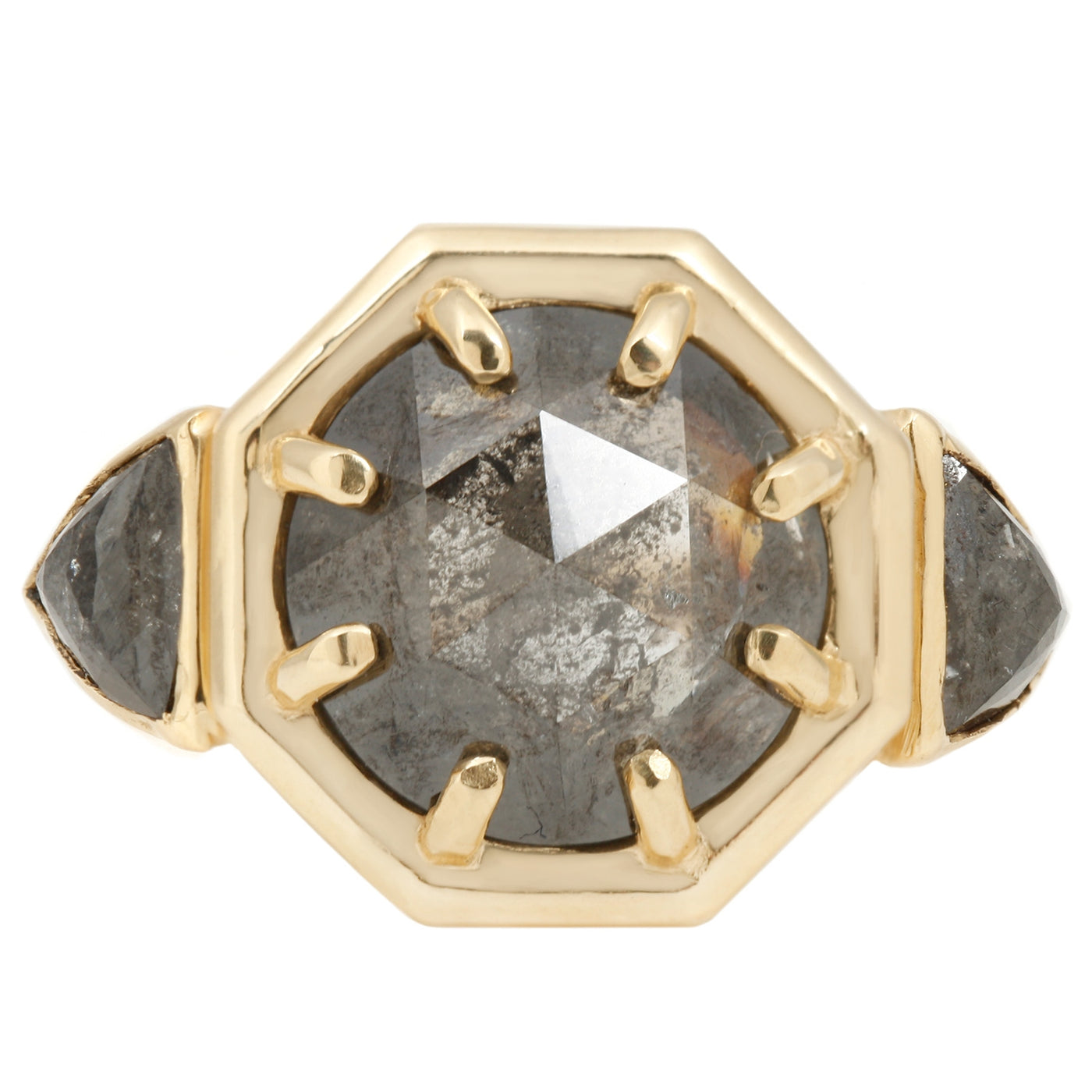 Three Diamond Cleopatra Ring