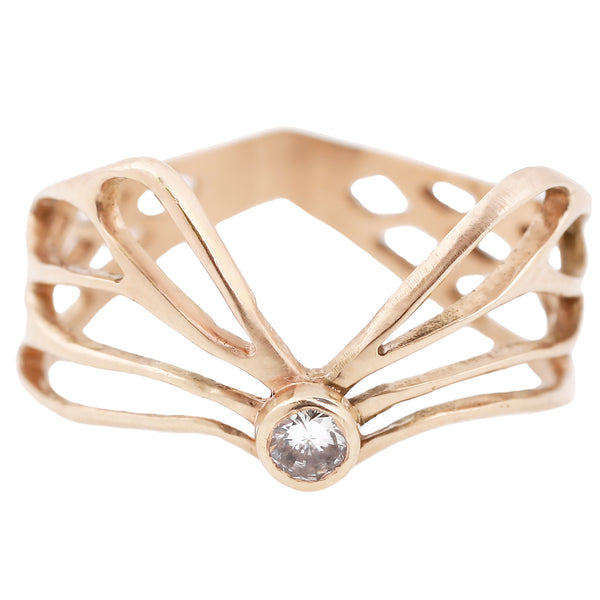 Luana Coonen Jewelry Gold Diamond Winged Ring
