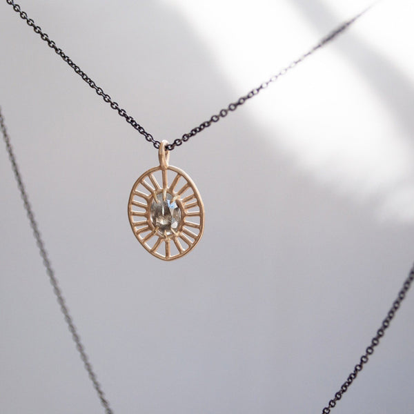Sarah Swell Cosmic Web Necklace with oxidized chain
