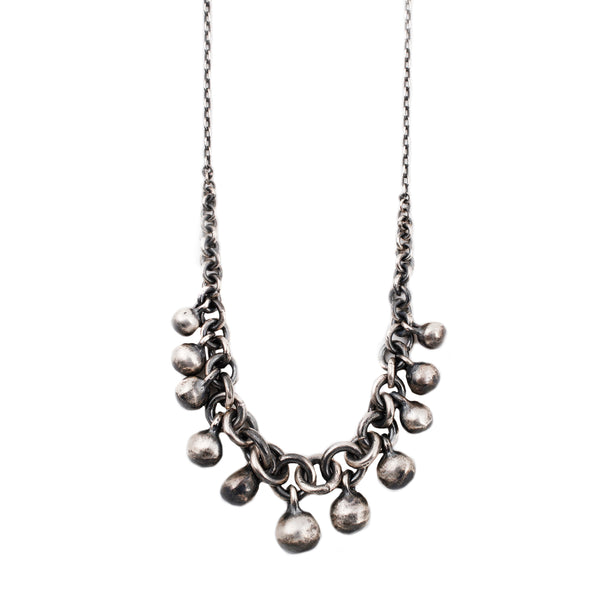 Circle Link Spheres Necklace