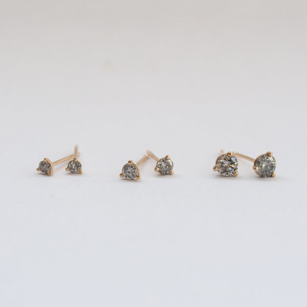 Sarah Swell Salt & Pepper Diamond Studs