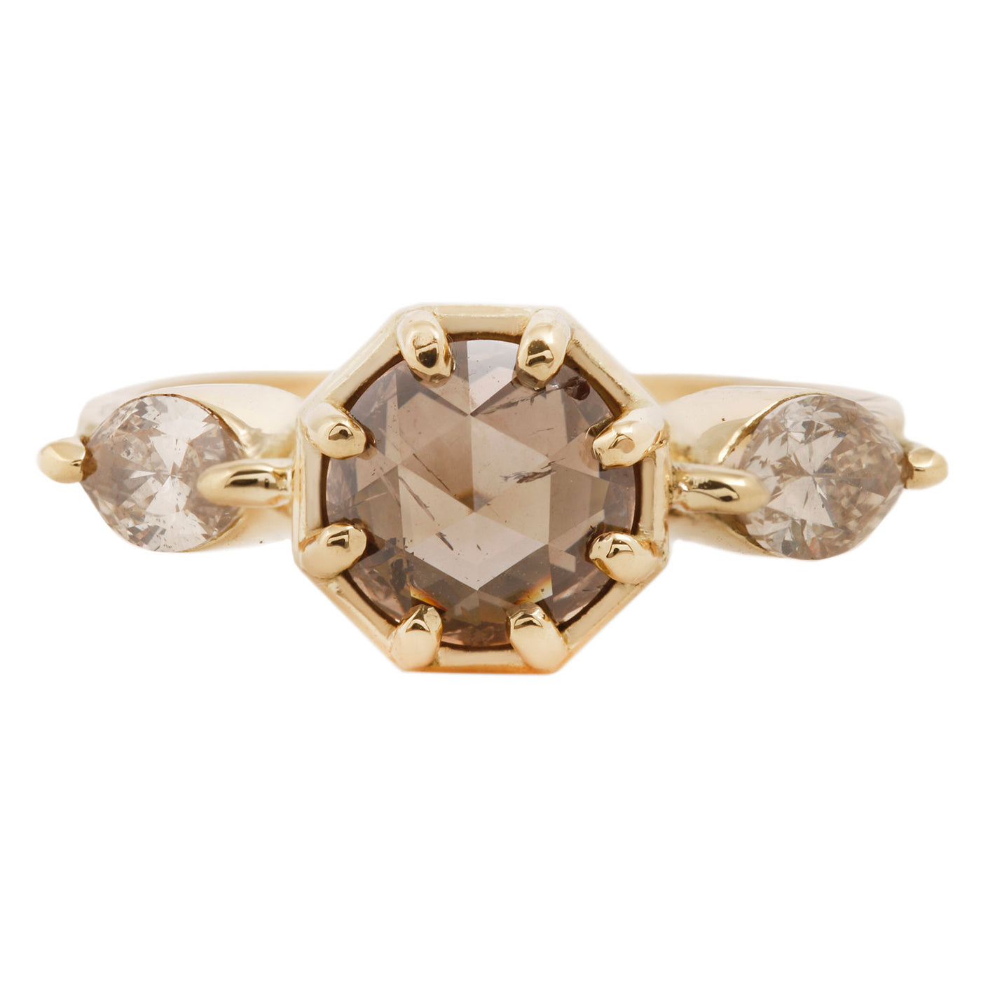 Golden Cognac Diamond Ring
