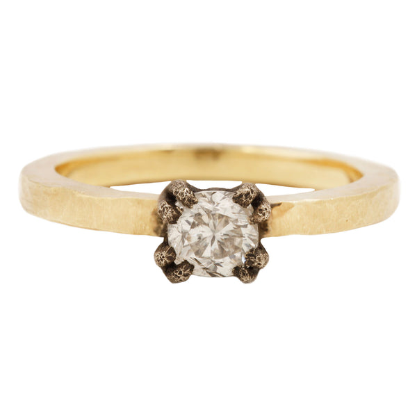 Square Diamond Solitaire Ring