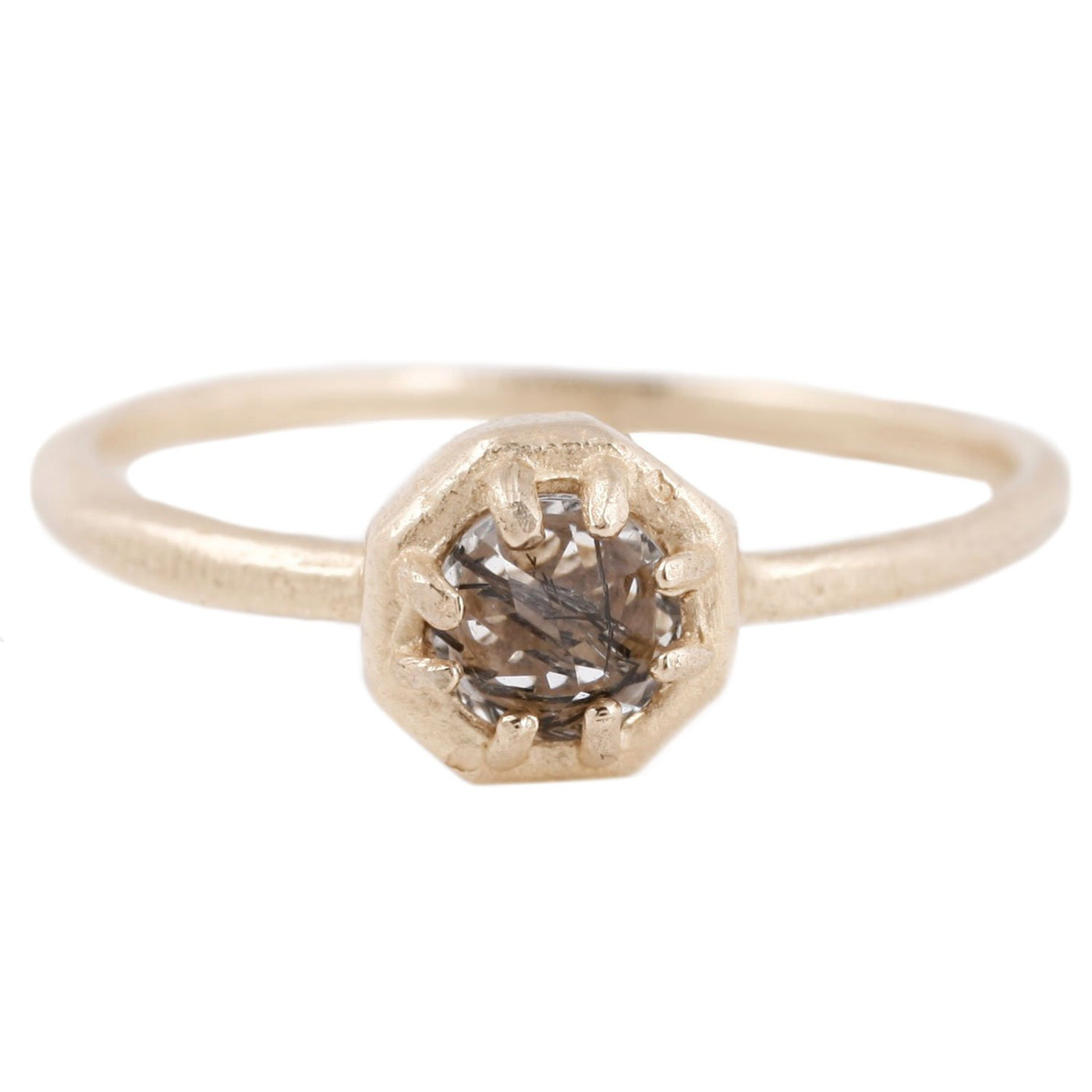 Lauren Wolf Tiny Tourmalinated Quartz Ring