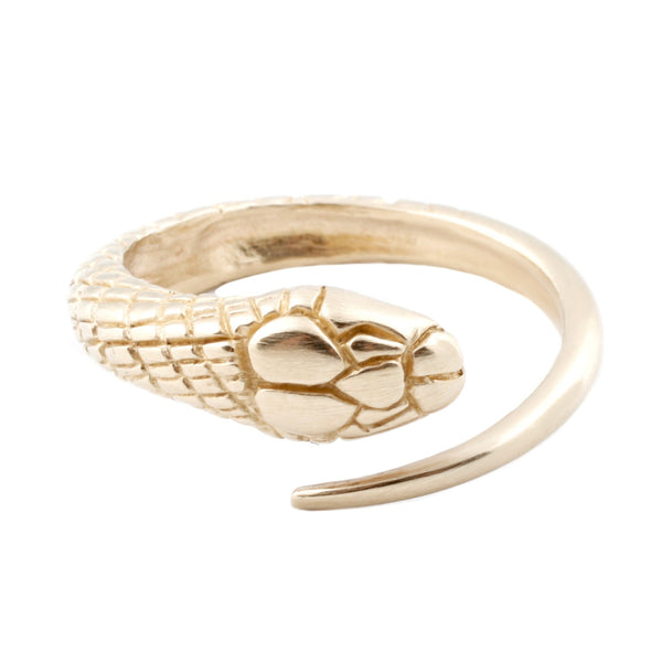 Gold Single Snake Ring