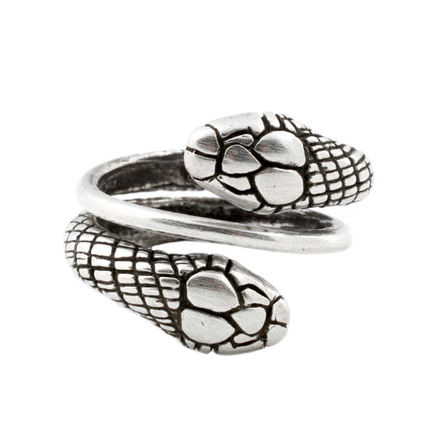 Silver Double Snake Ring