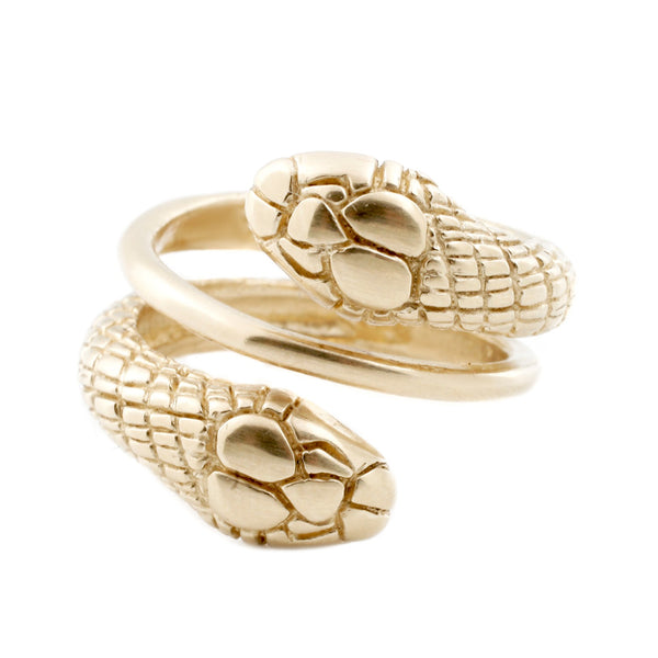 Gold Double Snake Ring