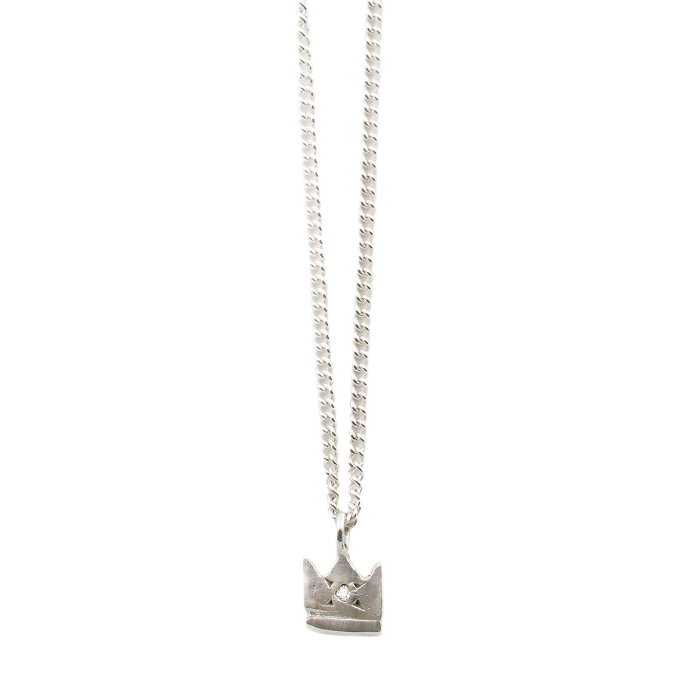 Scosha Silver Crown Pendant Necklace
