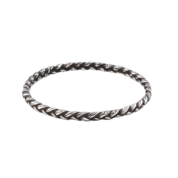 Small Silver Braid Ring